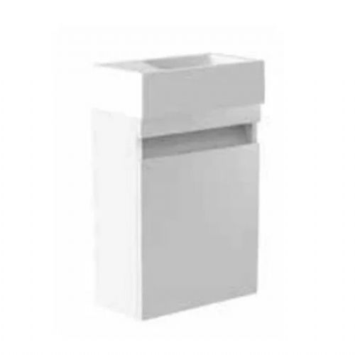 Kartell Ikon Wall Mounted Cloakroom Vanity Unit - 400mm - White - Left Handed